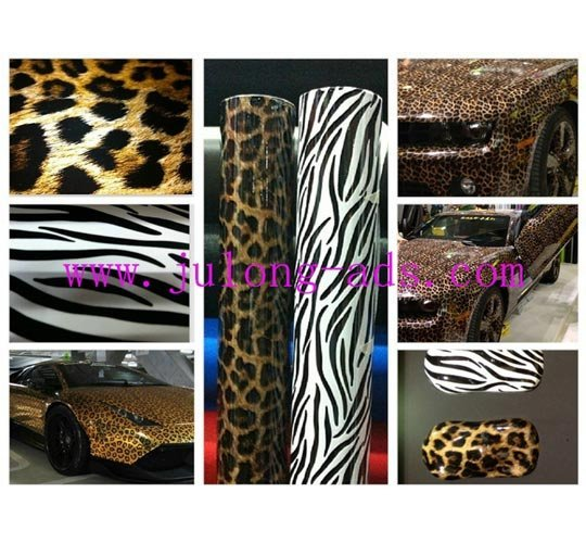 New Design Zebra Car Wrap Vinyl Film