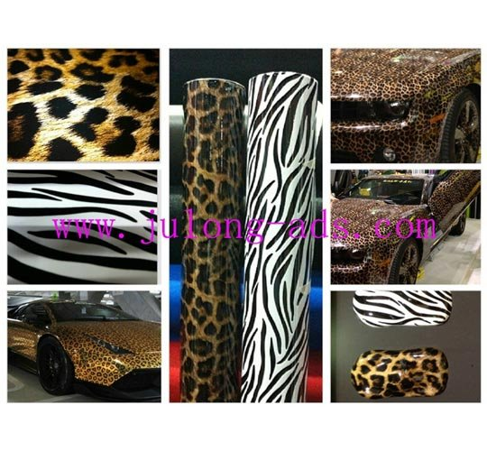 High Quality New Arrival Leopard Skin Car Wrap Sticker
