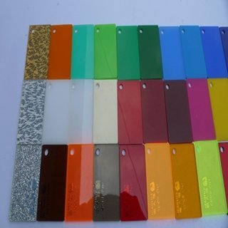 cast clear and color acrylic sheet