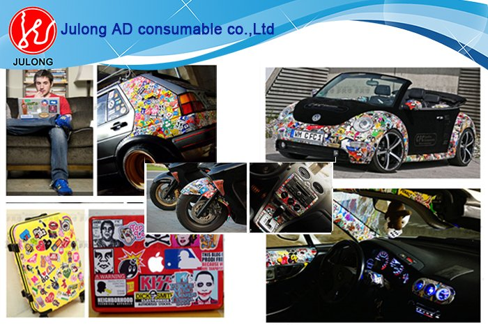 Bomb sticker 1.52*30m air bubble free  matte, and glossy