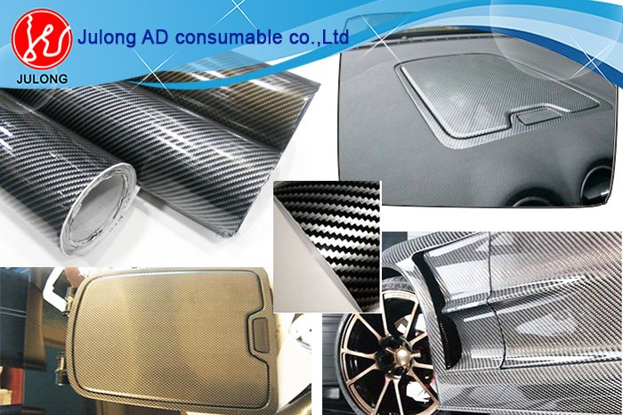 2D carbon fiber with air bubble free 1.52*30m high glossy flat