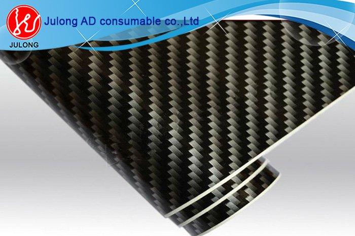 Flat 2D Carbon Fiber Vinyl For Car Wrap