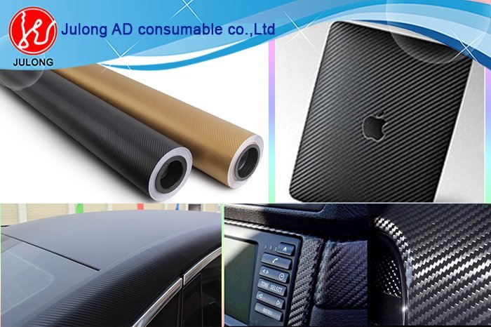 3D Carbon Vinyl Film With Air Bubble Free