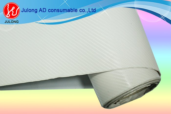 High glossy white 4D carbon vinyl 1.52*30