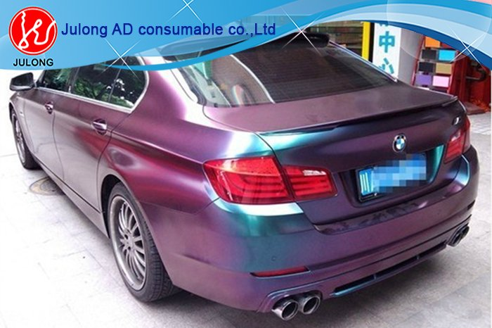 Flat Purple to Brown Chameleon Car Wrap Vinyl with air Channel 1.52*30m