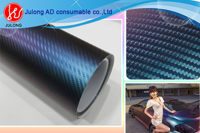 Carbon chameleon vinyl with air channel 1.52*30m