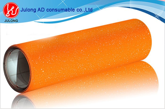 Orange Diamond glitter car wrap vinyl air bubble free 1.52*30m