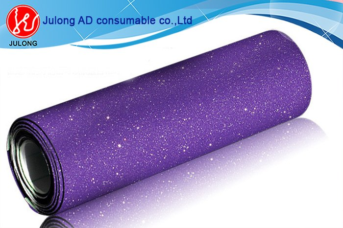 Purple Diamond glitter car wrap vinyl air bubble free 1.52*30m