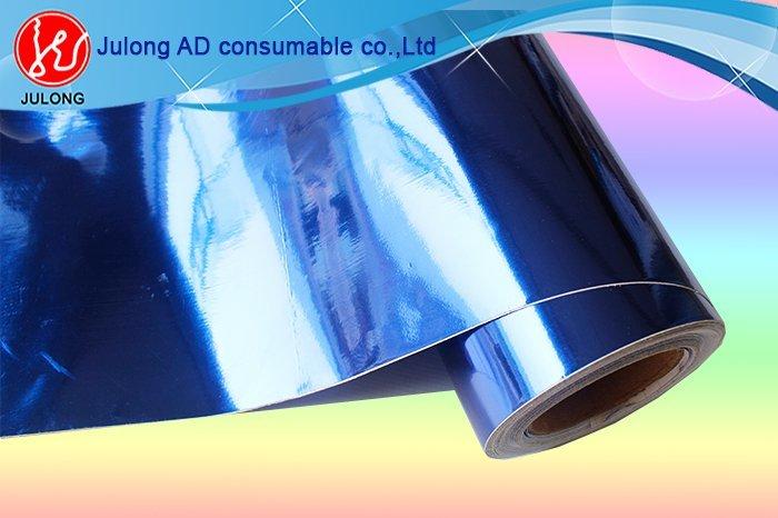 Blue Chrome vinyl air bubble free 1.52*30m