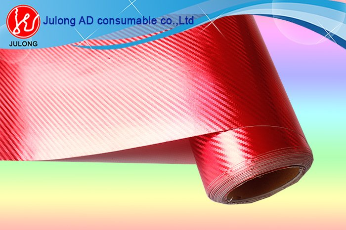 3D red Chrome fiber with air channel 1.52*30m