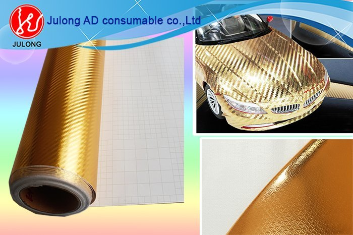 3D Silver Chrome fiber with air channel 1.52*30m