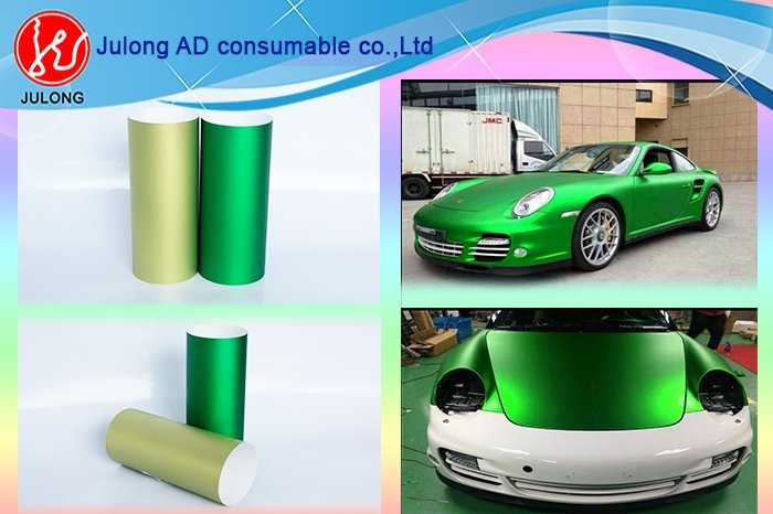 Matte chrome vinyl high polymer  with air channel 1.52*20m