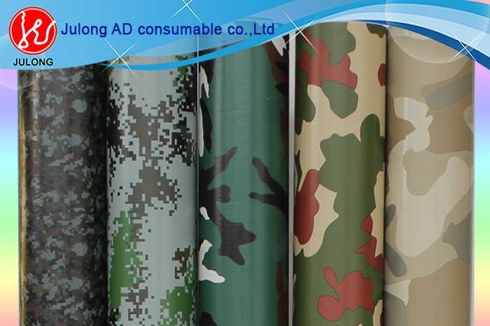 Camouflage  wrap vinyl with air channel 1.52*30m