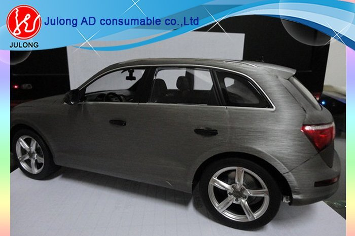 Grey Brushed aluminium vinyl with air channel 1.52*30m BF813