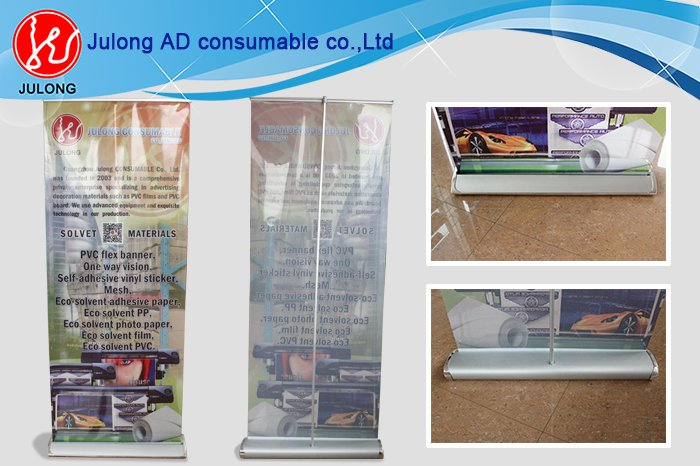 Wide screen Roll-up Banners, Vinyl Graphic with Thickened Aluminum Alloy Rull-up Banner Stands