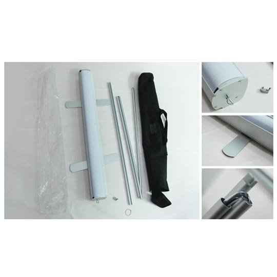 Roll up stands, made of aluminum, oxford carrying bag/set