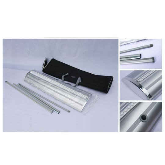 120*200CM Roll Up Banner (Included Graphic), with PVC Panel, No Curling Edges Allowed Pvc Graphic