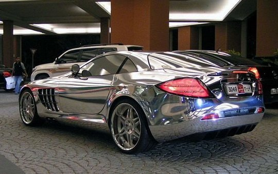 Chrome car wrapping foil