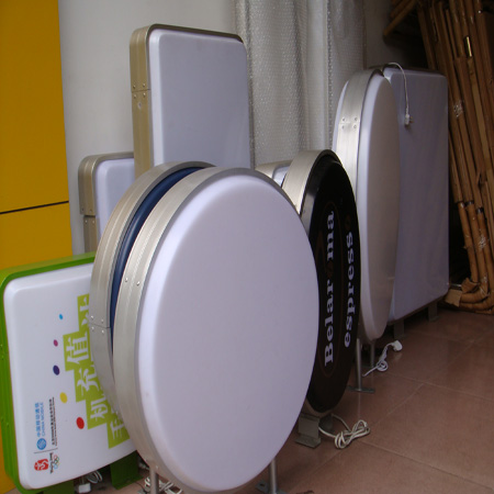 Round light box